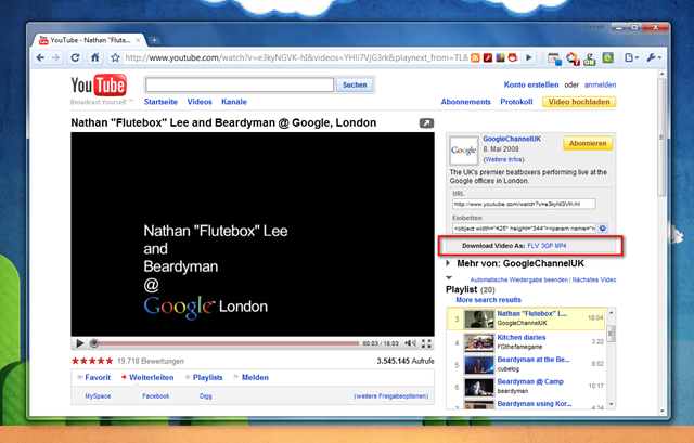 chrome downloader youtube