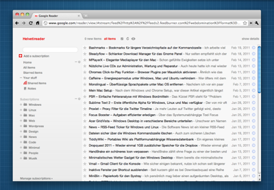 Googlereader All Items