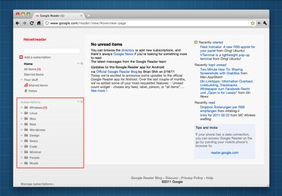 Googlereader Helvetireader Home